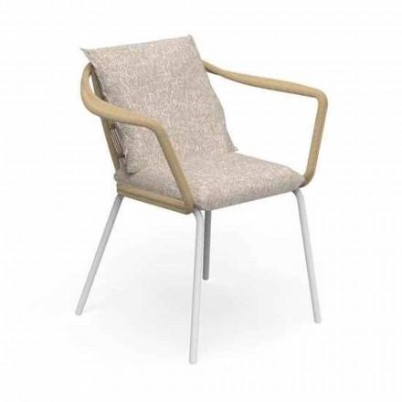 Sedia da Giardino di Design Moderno in Alluminio e Tessuto – Cruise Alu Talenti