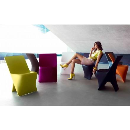 Sedia da giardino di design moderno Sloo by Vondom, in polietilene