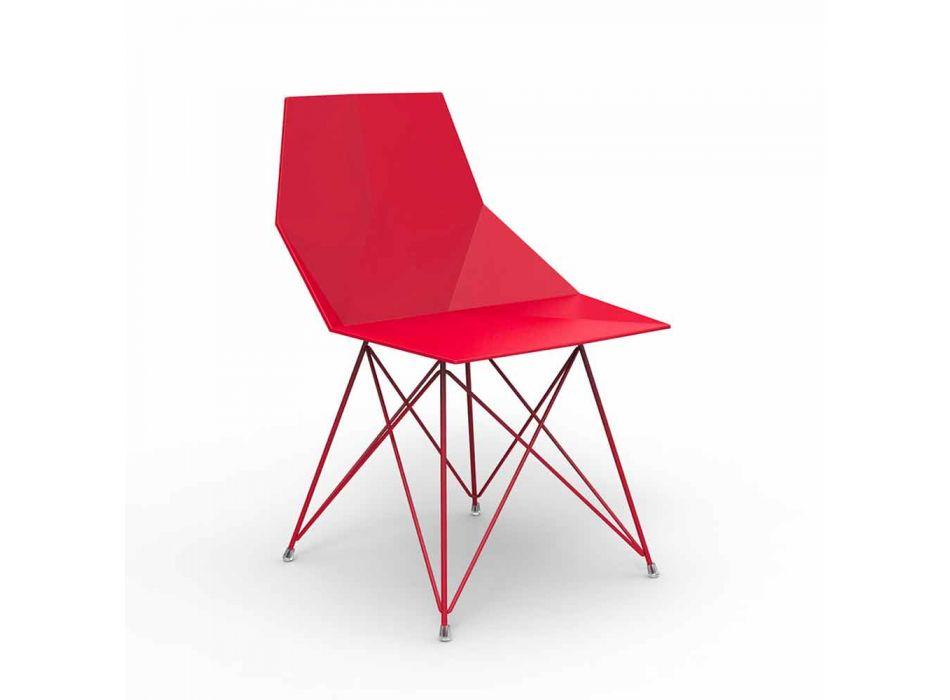 Sedia da giardino di design Vondom Faz in polipropilene e acciaio inox