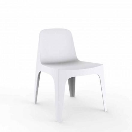 Sedia da giardino impilabile in polipropilene Solid Vondom, di design, 4 pezzi
