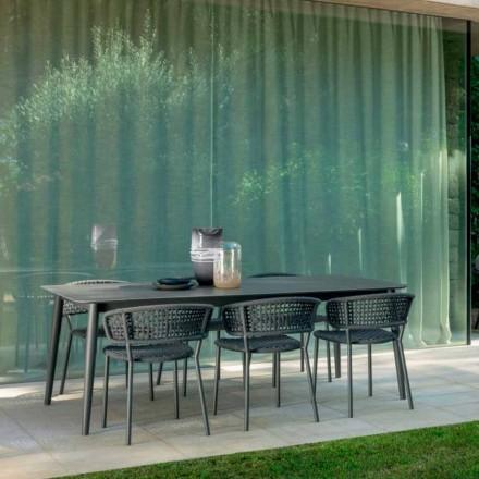 Sedia da giardino Moon Alu Talenti in alluminio e corda sintetica