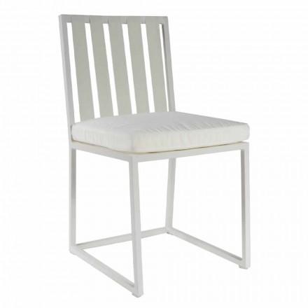 Sedia da Pranzo Esterno in Alluminio e Corda Design di Lusso 3 Finiture - Julie