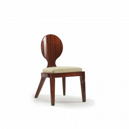 Sedia da pranzo imbottita di design in legno liscio, L51xP53cm, Nicole