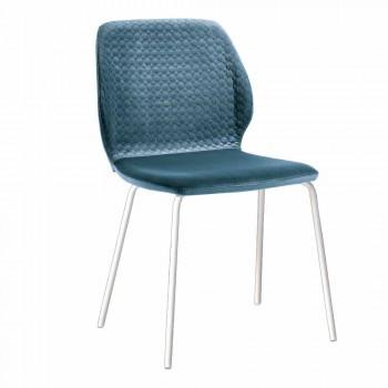 Sedia da Soggiorno Design Moderno Elegante in Velluto Colorato 4 Pezzi - Scarat