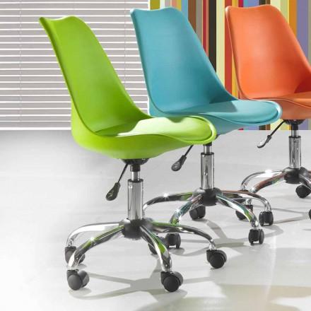 Sedia da Ufficio con Alzo a Gas in Polipropilene Colorato e Metallo – Loredana