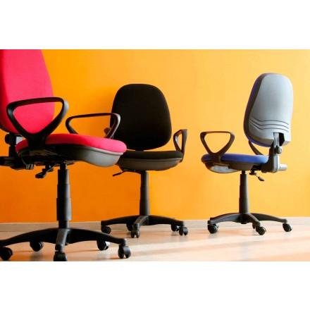 Sedia da Ufficio Ergonomica Girevole con Braccioli in Tessuto – Concetta