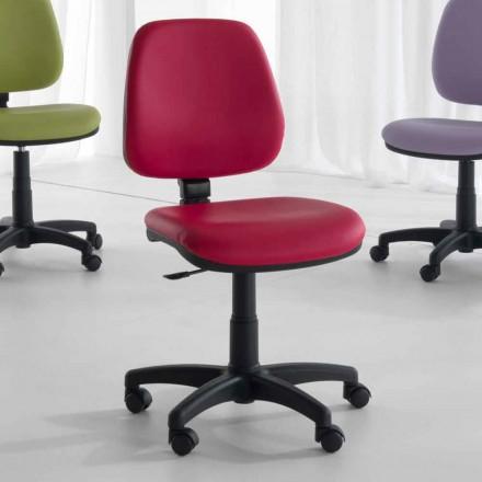 Sedia da Ufficio Girevole Ergonomica in Tessuto ed Ecopelle – Danila