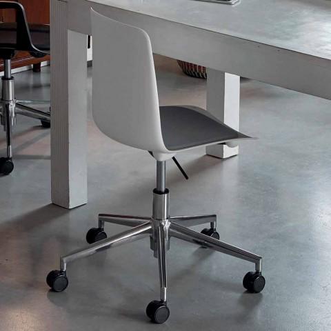 Sedia da Ufficio in Alluminio e Polipropilene Made in Italy, 2 Pezzi - Charita