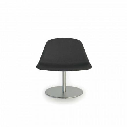 Sedia da ufficio moderna con base tonda Llounge by Luxy, made in Italy
