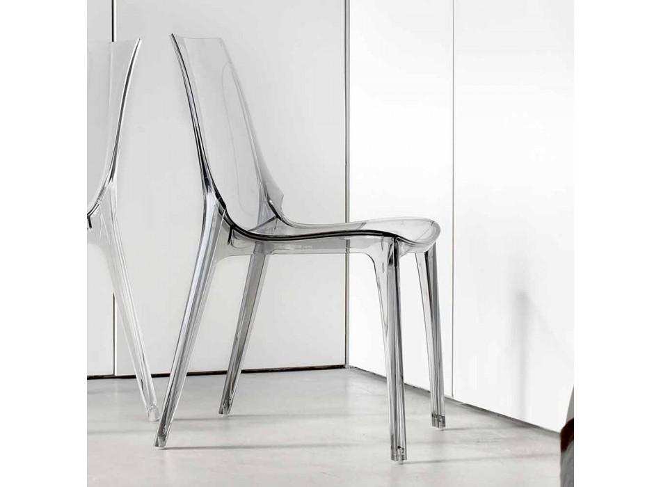 Sedia Design Moderno, Completamente in Policarbonato - Gilda