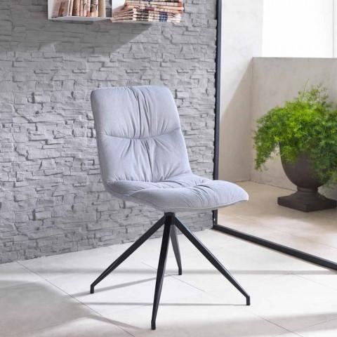 sedia design moderno rivestita in tessuto chiara