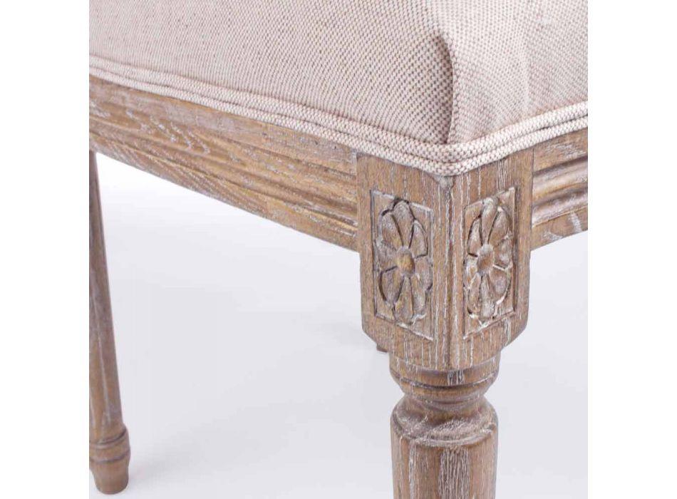 Sedia di Design Classico con Struttura in Legno 2 Pezzi Homemotion - Murea