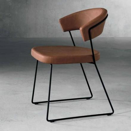 Sedia di design in metallo e tessuto prodotta in Italia Formia