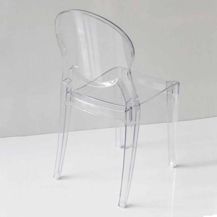 Sedia di Design Moderno in Policarbonato, in 2 Colori - Dalila