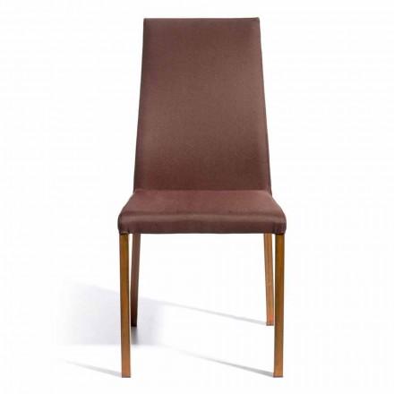 Sedia di design rivestita in tessuto Amalia, H96 cm, fatta in Italia