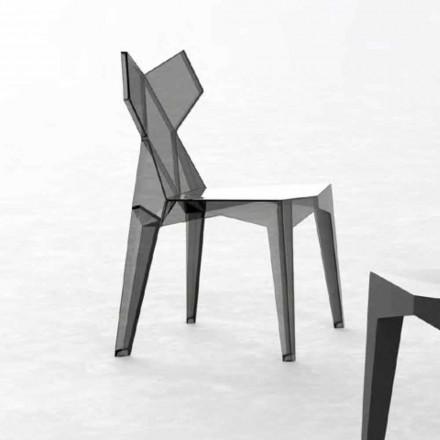 Sedia Esterno di Design Impilabile in Policarbonato, 4 Pezzi - Kimono by Vondom