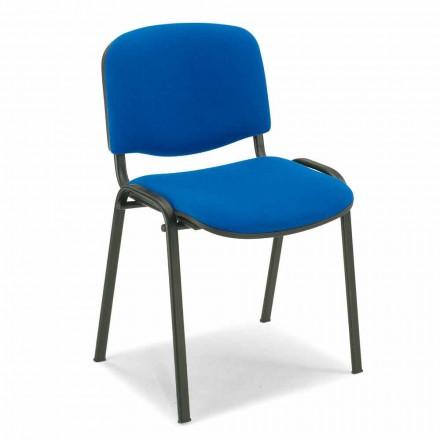 Sedia Imbottita per Sala da Attesa con Base in Metallo Nero Moderna – Carmela