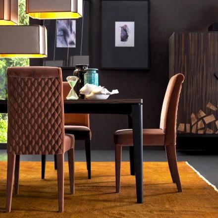 Sedia imbottita in legno massello living Grilli Zarafa fatta in Italia