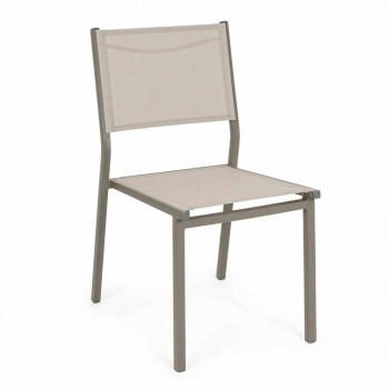 Sedia Impilabile in Alluminio da Giardino per Esterni di Design Mdoerno - Franz