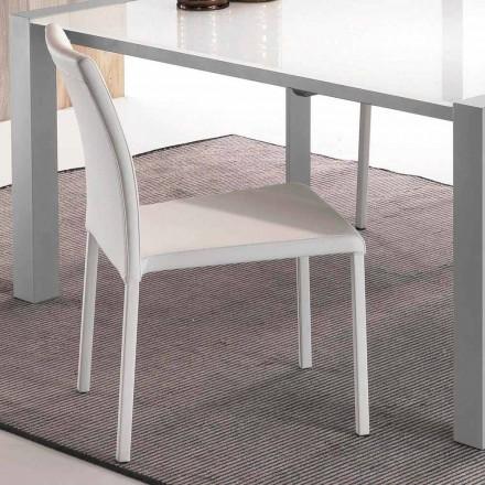 Sedie design da cucina e soggiorno a prezzi speciali for Sedia design ecopelle bianca