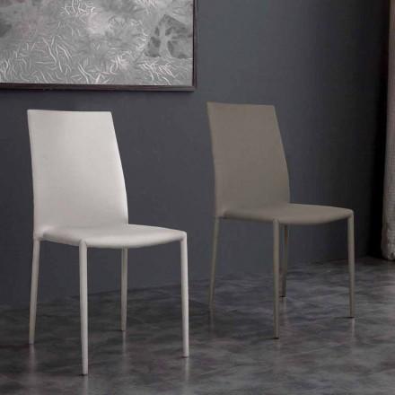 Sedia in ecopelle di design moderno Desio, per cucina o sala da pranzo