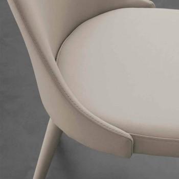 Sedia in metallo interamente rivestita in ecopelle Nepitella