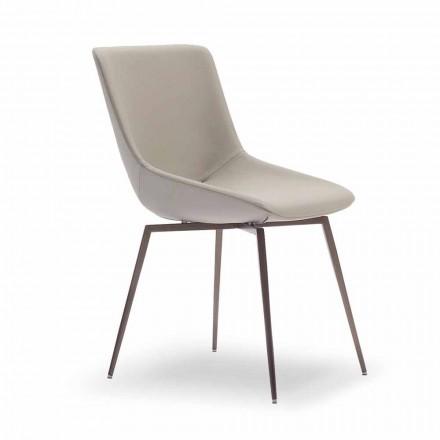 Sedia in Pelle per Sala da Pranzo Made in Italy – Bonaldo Artika