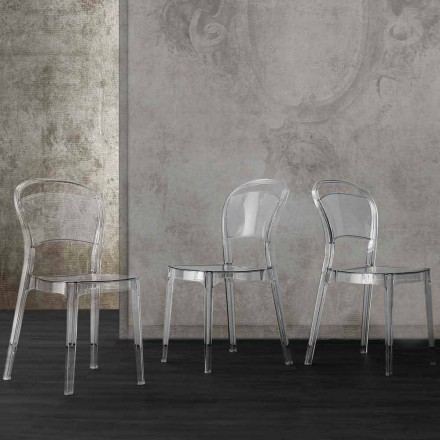 Sedia in policarbonato trasparente dal design moderno Ferrara