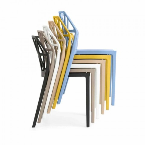 Sedia in polipropilene Connubia by Calligaris Alchemia made in Italy