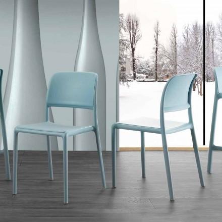 Sedia in resina e fiberglass di design moderno Ravenna