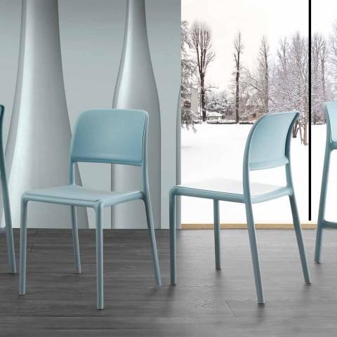 Sedie In Resina Colorate.Sedia Moderna Da Cucina Sala Da Pranzo In Resina E Fiberglass Ravenna