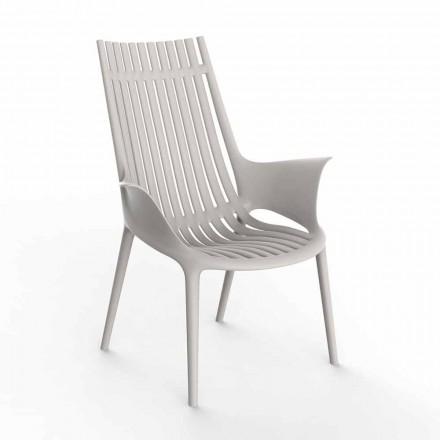Sedia Lounge con Braccioli per Esterni in Plastica 4 Pezzi - Ibiza by Vondom