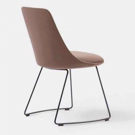 Sedia Moderna in Pelle con Base a Slitta Made in Italy – Bonaldo Itala Si