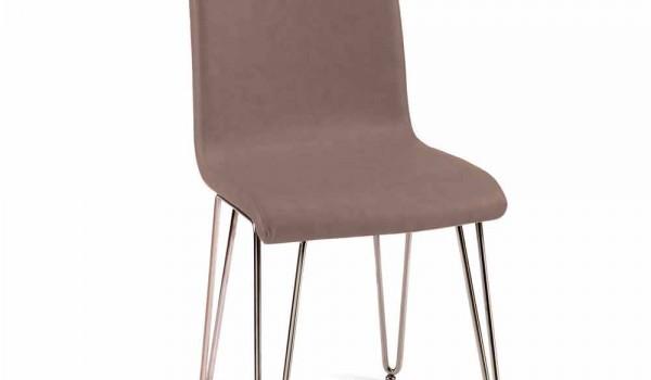 Sedia di design moderno in pelle o similpelle h cm made in italy maha