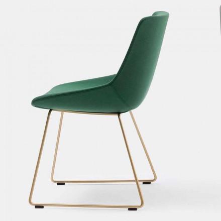 Sedia Moderna in Tessuto con Base a Slitta Made in Italy– Bonaldo Artika