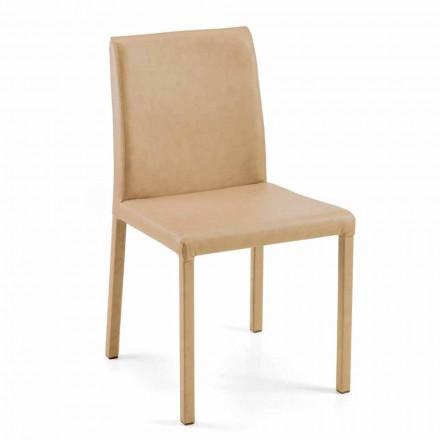 Sedia moderna per sala da pranzo Jamila, fatta a mano in Italia