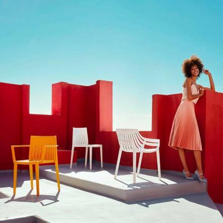 Sedia per giardino in polipropilene Spritz by Vondom, design moderno, 4 pezzi
