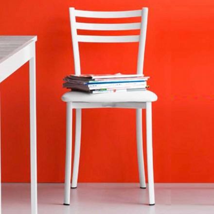 Sedia per Sala da Pranzo Imbottita in Ecopelle Made in Italy, 2 pezzi – Ace