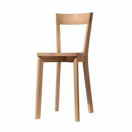 Sedia per Sala da Pranzo in Frassino e Legno Massello Made in Italy - Alima