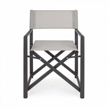 Sedia Regista da Giardino di Design Moderna in Alluminio per Esterno - Cameo