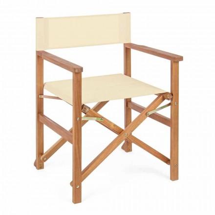 Sedia Regista in Legno di Acacia di Design da Esterno per Giardino - Roxen