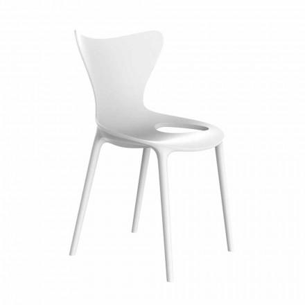 Sedie da Giardino di Design Impilabile in Polipropilene 4 Pezzi - Love by Vondom
