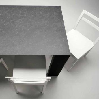 Sedie da Soggiorno in Legno Bianco di Design Moderno Italiano 2 Pezzi - Pingpong