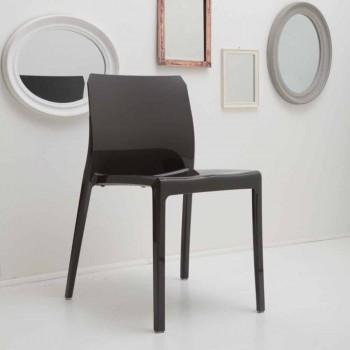 Sedie di Design per Sala da Pranzo Moderne Lucide e Colorate 4 Pezzi - Havana
