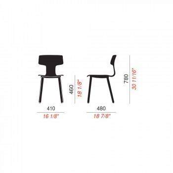 Sedie Sala da Pranzo in Legno e Polipropilene Made in Italy, 2 Pezzi - Clover