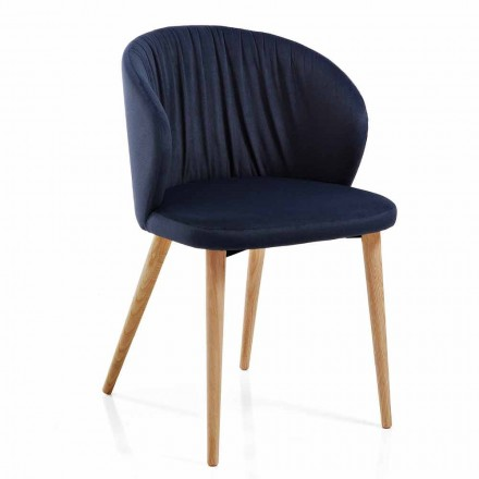 Sedie Sala da Pranzo in Tessuto Design Moderno Elegante 2 Pezzi - Reginaldo