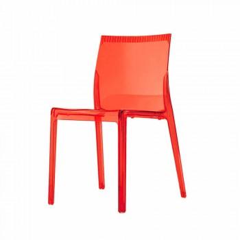 Sedie Sala da Pranzo Moderne in Policarbonato Colorate 4 Pezzi di Design - Radon