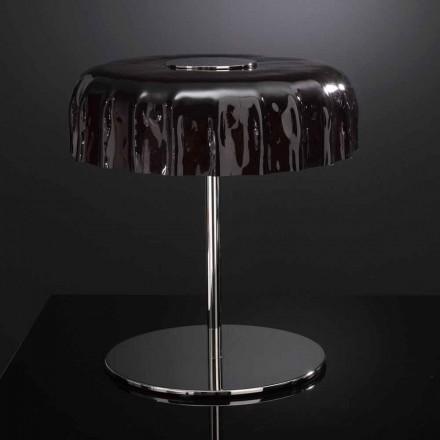 Selene Big Cap lampada da tavolo in vetro Ø40 H 40cm made in Italy