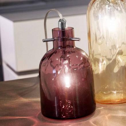 Selene Bossa Nova lampada da tavolo Ø11 H16cm, vetro soffiato ametista