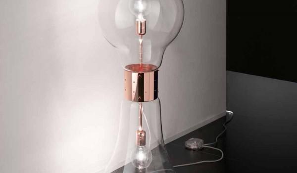 Lampade In Vetro Di Murano Moderne : Selene dina lampada da tavolo di design in vetro di murano originale